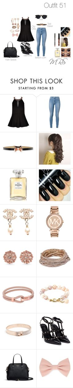 """""""FIFTY-ONE"""" by minkablack ❤ liked on Polyvore featuring City Chic, 7 For All Mankind, Ted Baker, Chanel, Michael Kors, Carolee, ABS by Allen Schwartz, Valentino, Forever 21 and Christian Dior"""