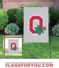 "Ohio State Buckeyes ""O"" Garden Window Flag 15"" x 10.5"""