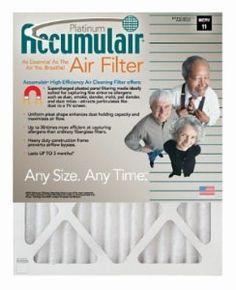 Accumulair FA20X25X6 Platinum Filter (APR 1550), 19.5″ L x 24.5″ W x 5.88″ H