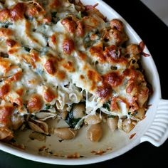 Baked Chicken & Spinach Pasta