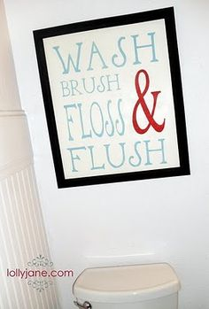 funny bathroom toilet typography art decor, printable / digital