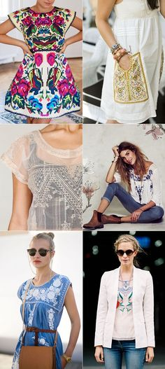 Would you wear an embroidered dress this spring? I'm really loving the 60s boho vibe that is happening on the streets right now. It...