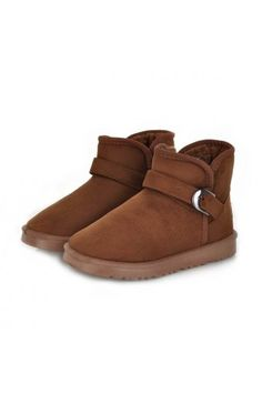 $18.99 Suede Buckle Strap Casual Ankle Winter Boots @MayKool
