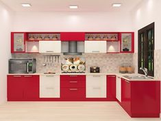 Buy Savate L - Shaped Kitchen with Laminate Finish online in Bangalore. Shop now for modern & contemporary kitchen designs online. COD & EMI available. Kitchen Room Design, Kitchen Paint, Kitchen Tiles, Interior Design Kitchen, Kitchen Decor, Kitchen Designs, Kitchen Wood, Loft Kitchen, Floors Kitchen