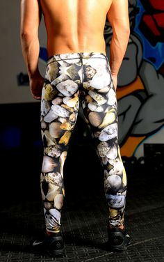 """The most powerful legs are """"ROCK SOLID"""". Get your workout on in our original print, designed to inspire Strength, Stability, and Stamina. Our designated """"Triple Threat"""" fabric with special design feat"""