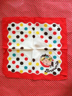 Vintage 1940s Brownie Girl Scout Handkerchief by AttictreasuresNY, $12.00
