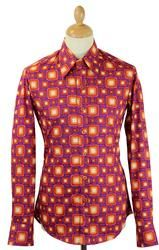 Box Tops CHENASKI Retro 70s Geometric Shirt (V)