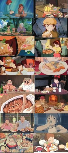 Studio Ghibli- never realized how much they eat in Miyazaki movies! Makes me hungry! Hayao Miyazaki, Geeks, Manga Anime, Anime Art, Culture Art, Studio Ghibli Movies, Castle In The Sky, Dibujos Cute, Howls Moving Castle