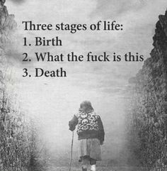 The three stages...