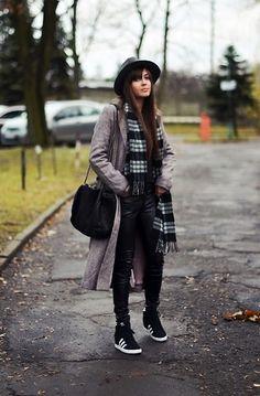 Casual, grey coat - LOOKBOOK.nu