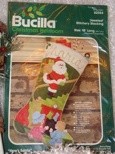 Vintage Bucilla Here is Santa Felt Stitchery by LizzyBethDesigns, $44.95