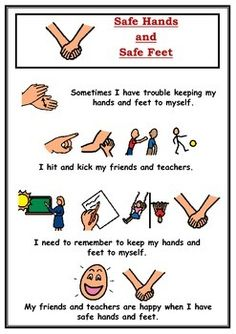 A social story for students who require a little extra reminder that they need to try and have safe hands and safe feet all of the time to make sure they and their friends are happy.