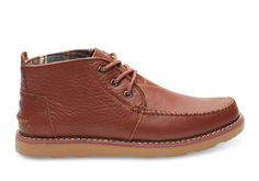 Brown Brown Full Grain Leather Men's Chukka Boots