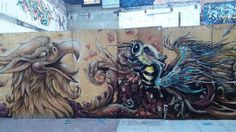 street art save the bees louis masai 12 Graffiti artists swarm the streets with murals in an attempt to save the bees (19 HQ Photos)