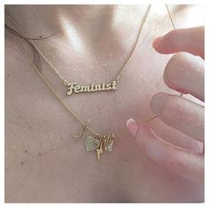 BING BANG X ME AND YOU  Feminist Necklace in 14k gold vermeil. @bingbangnyc