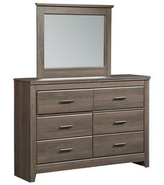 Hayward Dark Brown Wood Glass Dresser