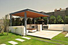 Terraza sencilla con asador