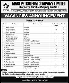 Jobs in Mari Petroleum Company Limited