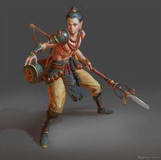 ArtStation - Demon Hunter, Naranbaatar Ganbold