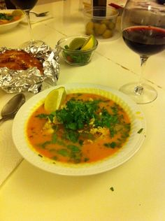 Of course, there's also this Brazilian fish soup that not only has tomatoes and cilantro, but coconut milk as well. What to do, what to do...?