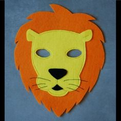 masque en feutrine lion - Masque Lion