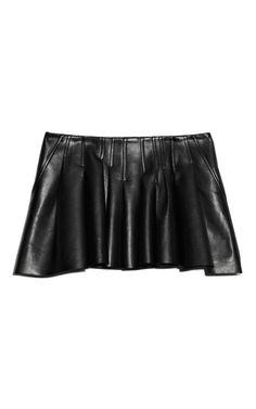 Shop Plonge Lamb Irregular Seam Vacuum Pressed Mini Skirt by Alexander Wang for Preorder on Moda Operandi