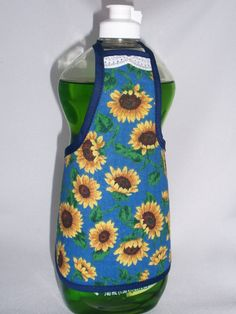 Sunflower Dish Soap Detergent  Bottle Apron Cover Dress via Etsy