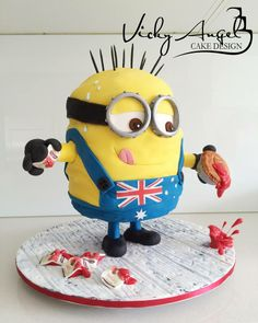 Minion Cake by Vicky Angel Cake Design, Sydney, New South Wales, Australia. You'll find this Cake Appreciation Society Member in our Directory at www.cakeappreciationsociety.com