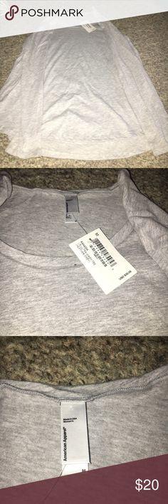 American apparel long sleeve shirt NWT gray long sleeve shirt super comfortable American apparel shirt American Apparel Tops Tees - Long Sleeve