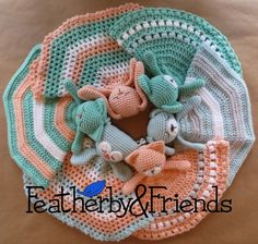 Mix & Match Lovies - A Lovey pattern that includes options for 6 animals & 3 different blankets