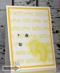 Chrissie Tobas: Harvest Moon Papiere: Welcome!, Baby Talk, The Alley Way Stamps, TAWS, cards, clear stamps,