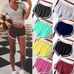 4.42AUD - Summer Shorts Women Girl Sports Shorts Gym Workout Waistband  Skinny Short  ebay 1b5a4aba9d24f