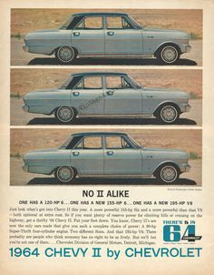 1964 Chevrolet Automobile Original 1963 Vintage by VintageAdOrama, $12.95