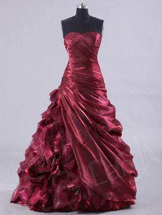 カラードレス Aライン ハートネック ワインレッド フロアレングス 編み上げ式 prpn0094 価格 ¥73,980