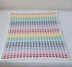Pattern in English of crochet heart blanket