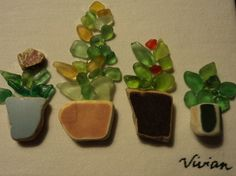 Sea Glass Art by Beachenseaglass on Etsy, $25.00
