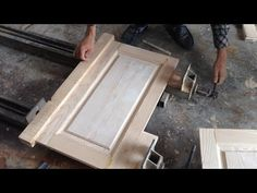 How To Make Wooden Cabinet Door - Making Framing Bead Profiles - Carpenter Woodworking Technology - YouTube