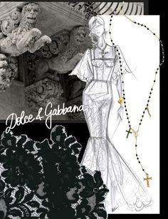 Croquis dinspiration de Domenico Dolce & Stefano Gabbana