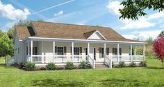 covered wrap around porch on ranch | The Ashton I Floor Plans - Modular Homes - Greensboro NC | NC Custom ...