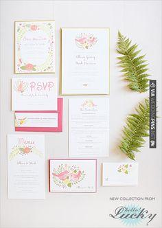 hello!lucky wedding invites | VIA #WEDDINGPINS.NET