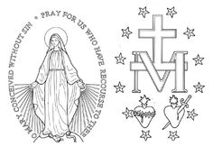 Miraculous Medal Coloring Page.