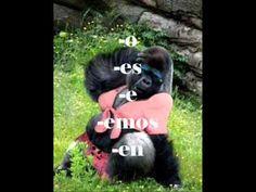 Present Tense Verbs por Señor Wooly (+playlist) Spanish Songs, Spanish 1, Spanish Activities, Teaching Spanish, Spanish Verb Conjugation, Present Tense Verbs, Spanish Language, Presents, Learning