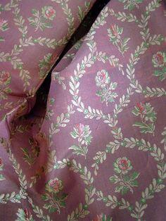 French antique silk fabric jacquard