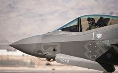 Download wallpapers F-35, Lockheed Martin F-35 Lightning II, US combat aircraft, US Air Force, military aircraft, USA