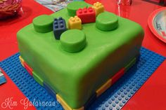 My son's Lego Birthday Cake