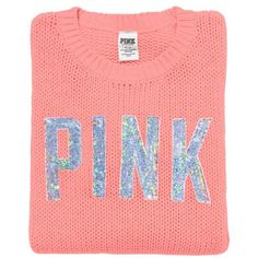 Victoria's Secret PINK Cozy Sweater ($79) ❤ liked on Polyvore featuring tops, sweaters, shirts, jumpers, crew neck shirt, slouchy shirt, slouch sweater, crew-neck sweaters and crewneck sweater