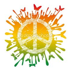 Hippie peace symbol by Alena Ryabchenko - Stock Vector