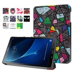for Galaxy Tab A 10.1 (2016) Leather Bag Cover Patterned Smart Leather Case for Samsung Galaxy Tab A 10.1 (2016) T580 T585