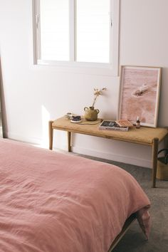 Interior designing with French Linen has never been so easy with our Wildflower Pink Interior designing with French Linen has never been so easy with our Wildflower Pink Style At Home, Home Bedroom, Bedroom Decor, Bedrooms, Interior Exterior, Home Interior, Home Decor Fabric, Bedroom Styles, House Rooms