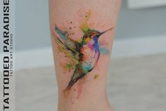 watercolor tattoo hummingbird by dopeindulgence